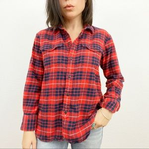 Madewell Soft Heavy Red & Blue Flannel